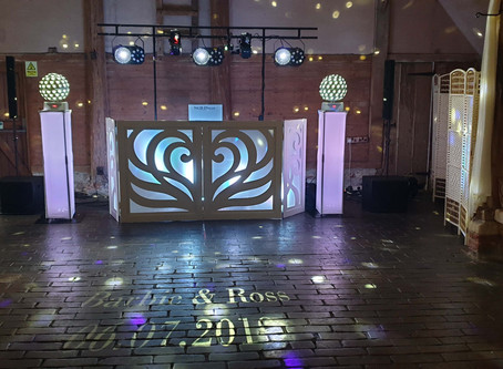 Our recent wedding at Lains barn