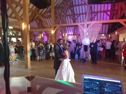 NGB Discos wedding DJ at Rivervale Barn