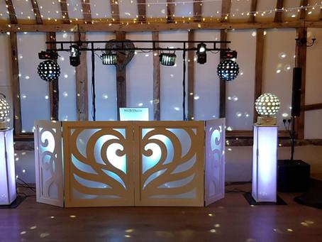 Clock barn wedding DJs