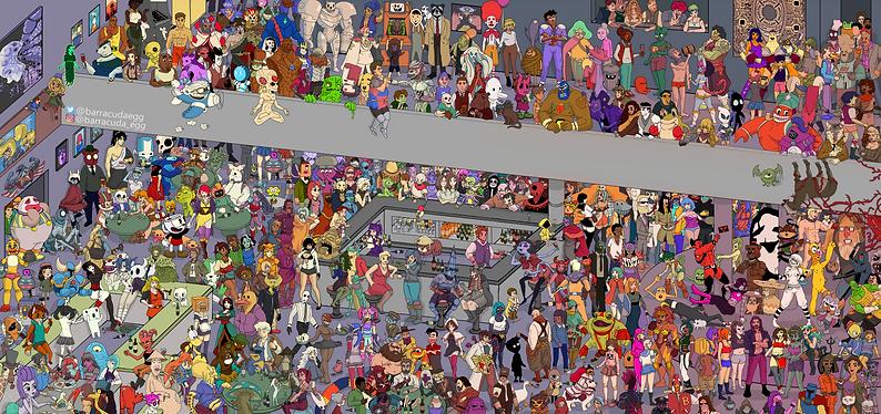 Where's Wally. Artist John Inch Cloak an
