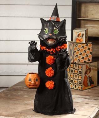 Scaredy Cat Ghoul Paper Mache
