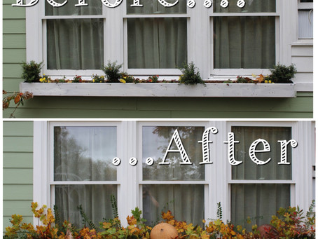 Fall Window Box Makeover For Free