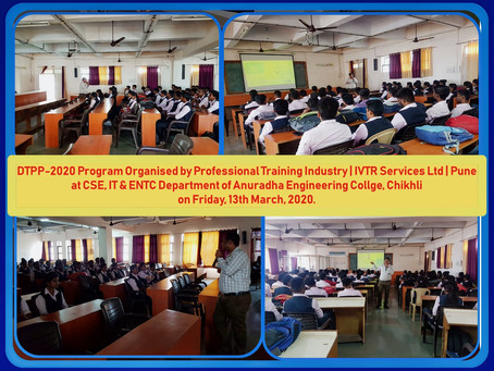 DTPP Program Organised at CSE, IT & ENTC Department of AEC, Chikhli...