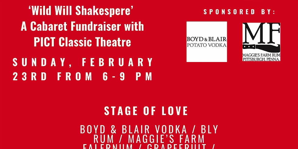 'Wild Will Shakespeare' - A Cabaret Fundraiser with PICT Classic Theatre