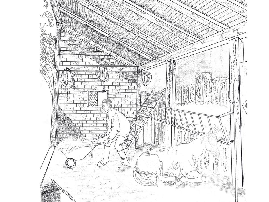 Farm house perspective