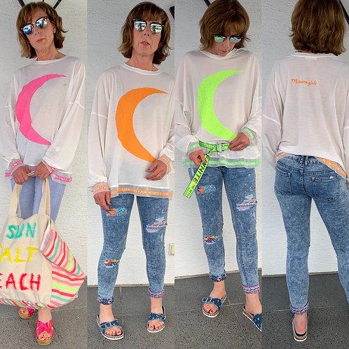 """Oversize neon Shirt """"Moon"""" - Preis incl . MwSt zzgl. Versand"""