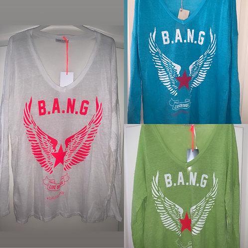 Leinen Langarmshirt B.A.N.G in 3 Farben