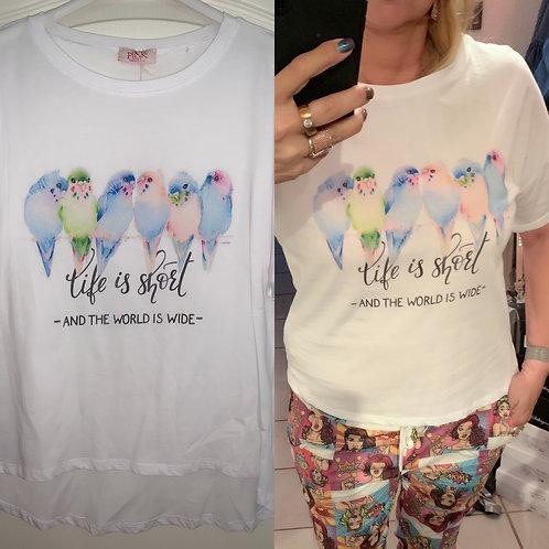 "Baumwoll Shirt ""life is short""- Preis incl. MwSt. Zzgl. Versand"