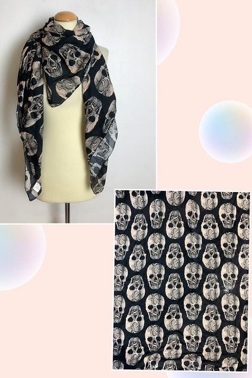 """Viereck Tuch """" Magic Skull"""" XXL 145x145 cm - Preis incl. MwSt. Zzgl. Versand"""