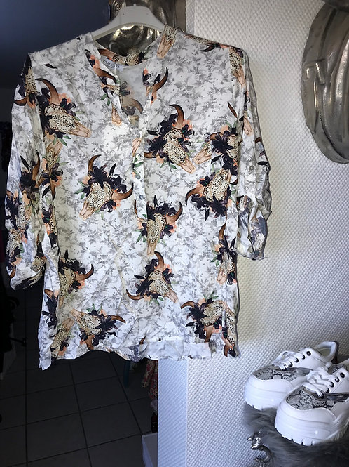 "Bluse ""longhorn flower"" one size bis 44/46-Preis incl. MwSt. Zzgl. Versand"