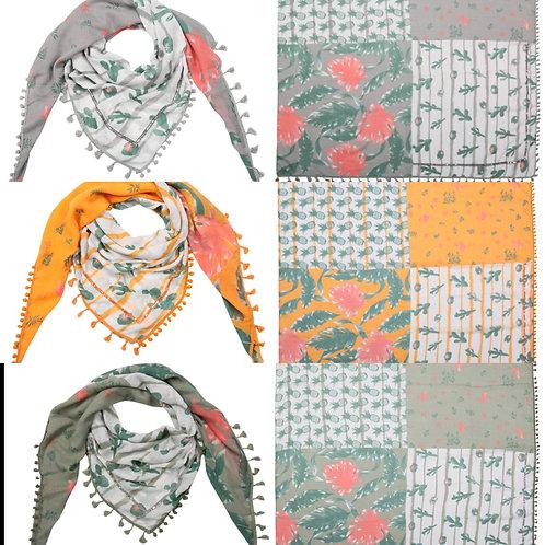 Vierecks Tuch Flamingo Kaktus Ananas - Preis incl. MwSt. zzgl. Versand