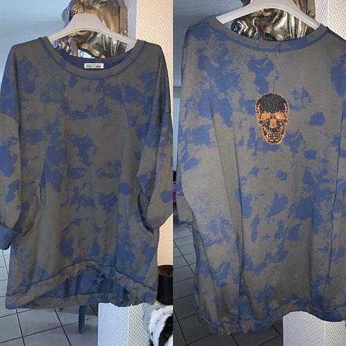Sweatshirt  Batik Blue - Preis incl. MwSt. Zzgl. Versand