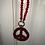 Thumbnail: Strass Peace Kette 2 Varianten