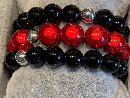 Magiclaze Perlenarmband rot 12 mm-Preis incl. MwSt. Zzgl. Versand