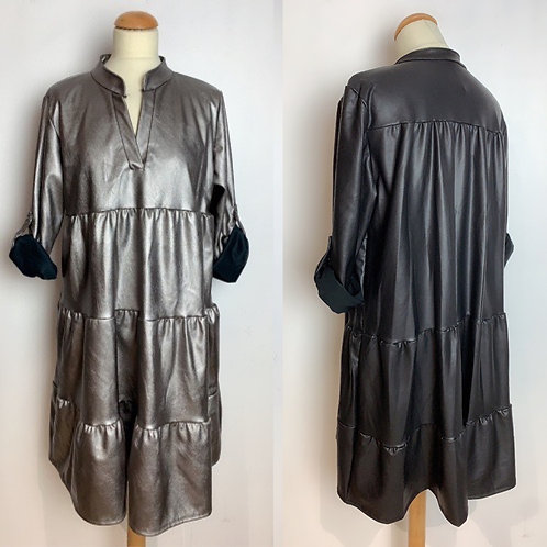 Cooles Fake Leder Kleid Viskosemix - Preis incl. MwSt. Zzgl. Versand