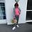 Thumbnail: Maritime Streifen Hose aus 100 % Leinen in 2 Farben mit Neon Details