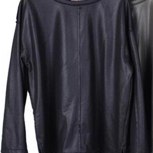 Cooles Sweatshirt in Lederoptik - Preis incl. MwSt. Zzgl. Versand
