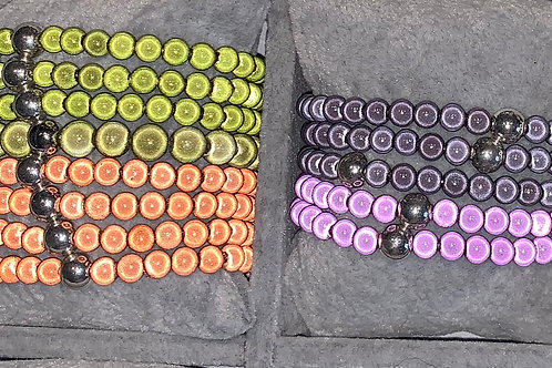 Magiclaze Perlenarmband 8 mm 4 Farben - Preis incl. MwSt. Zzgl. Versand