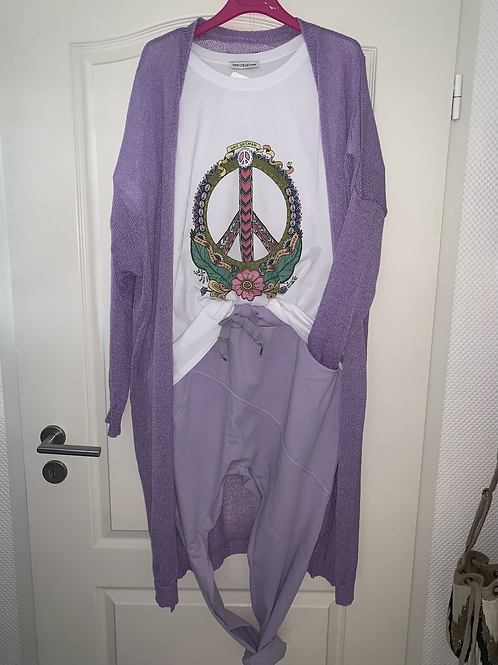 """Baumwoll Oversize Shirt """"Flower Power Peace"""""""