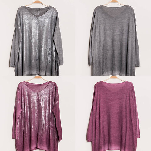 Oversize Pullover mauve oder grau - Preis incl. MwSt.zzgl. Versand