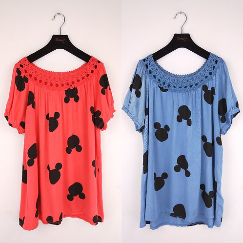 Niedliches flowy mouse Shirt in 2 Farben - Preis incl. MwSt. Zzgl. Versand