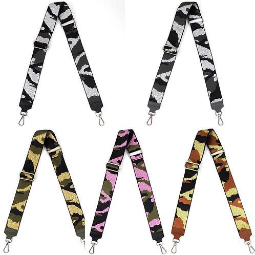 Shining Camouflage Taschen Riemen in 5 Farben - Preis incl. MwSt. Zzgl. Versand