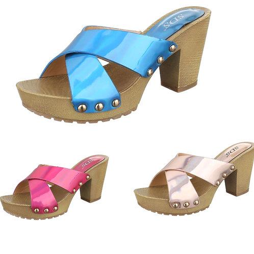 Sommer Sandale in metallic Farben  - Preis incl. MwSt. zzgl. Versand