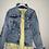 Thumbnail: Boho Jeansjacke mit Stickerei  und Applikationen