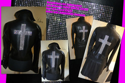 CROSS ON LEATHER