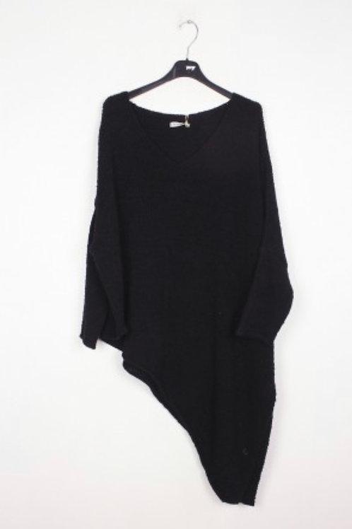 Asymmetrischer Pullover Black - Preis incl. MwSt. Zzgl. Versand