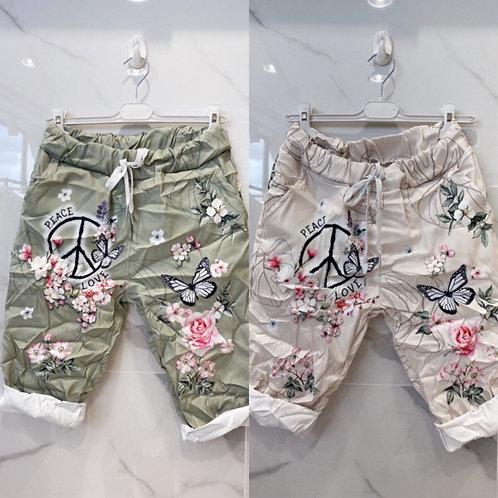 "Bermudas ""Peace"" in 2 Farben"