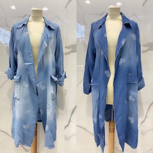 Denim Viskose Kimono in 2 Farben - Preis incl. MwSt. Zzgl. Versand