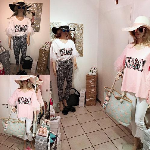 NEVADA LOVE Designer Shirt TU bis 40/42 rosa o. weiß-Preis incl. MwSt. zzgl.Vers
