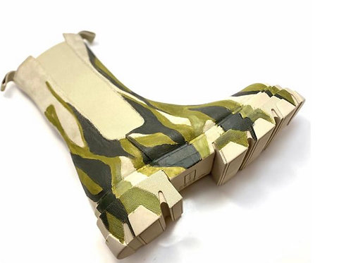Camouflage Chunky Combat Boots - Preis incl. MwSt. Zzgl. Versand