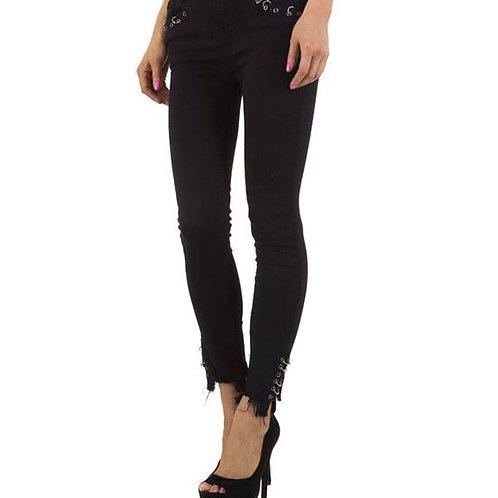 Rockige Jeans mit Fransen und Ringen Laulia - Preis incl. MwSt. zzgl. Versand