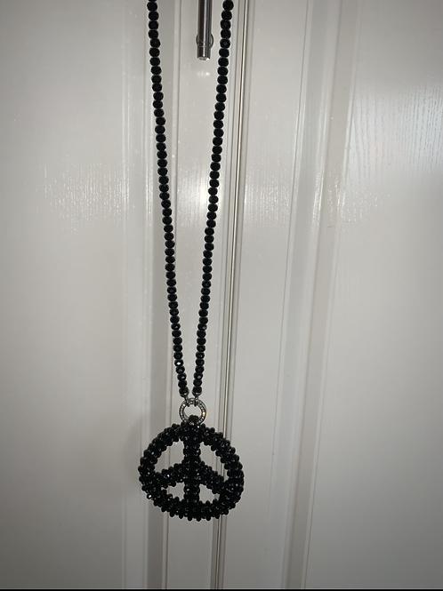 XXL Peace Kette  aus Strass-Preis incl. Mwst. Zzgl. Versand
