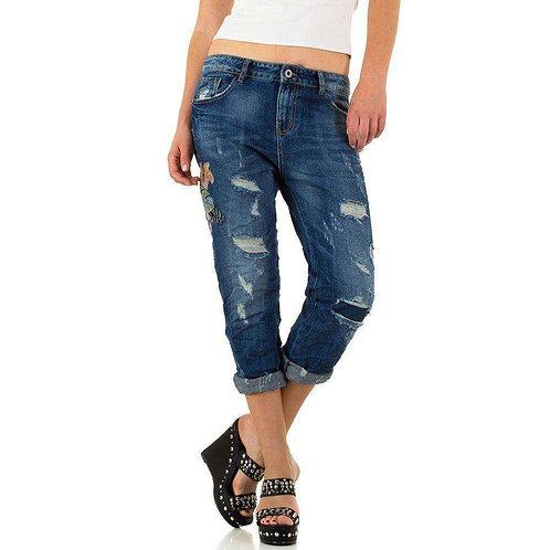 Jeans mit Stickerei und Cutouts ohne Elasthan - Preis incl. MwSt. zzgl. Versand