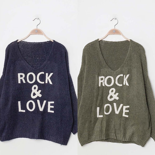 Pullover Rock & Love - Preis incl. MwSt. Zzgl. Versand