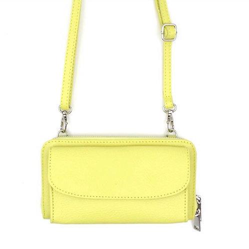 Mini Echtleder Tasche in Lime gelb