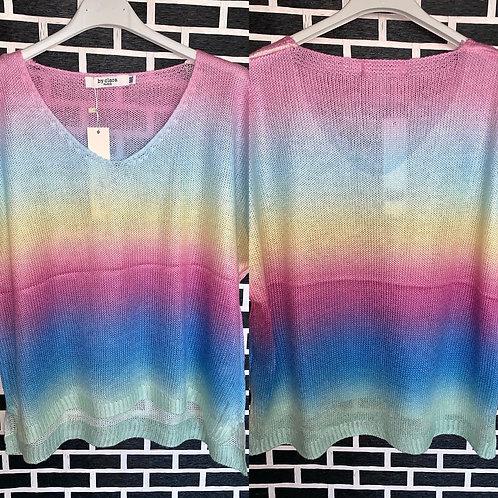 Kurzarm Shirt Rainbow in 2 Grössen