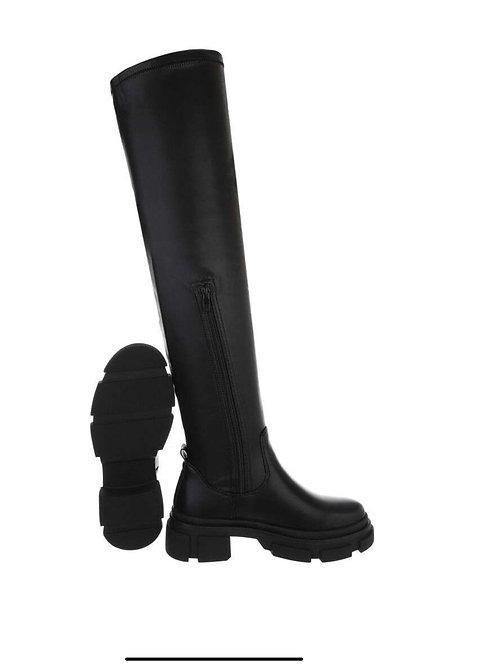 Overknee chunky Stiefel mit Stretch - Preis incl. MwSt. Zzgl.Versand
