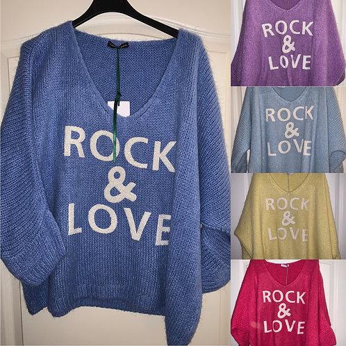"Pullover ""Rock & Love"" in 6 Farben-Preis incl. MwSt. Zzgl. Versand"