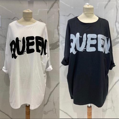 """Long Shirt Oversize """"Queen"""" - Preis incl. MwSt. Zzgl. Versand"""