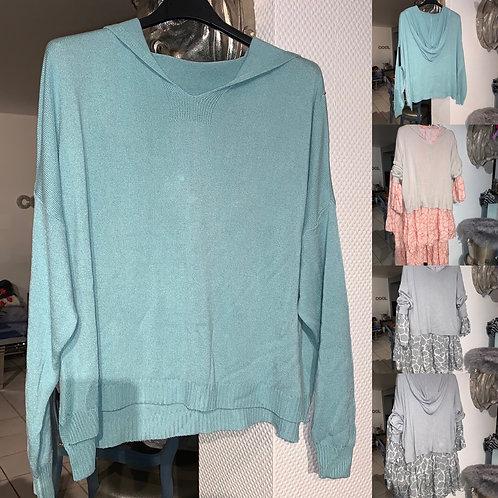 Leichter Kapuzen Pullover in 3 Farben - Preis incl. MwSt.zzgl. Versand