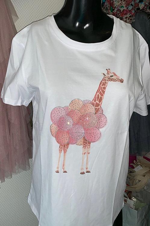 """Shirt """"Giraffe pink Ballons""""- Preis incl. MwSt. Zzgl. Versand"""