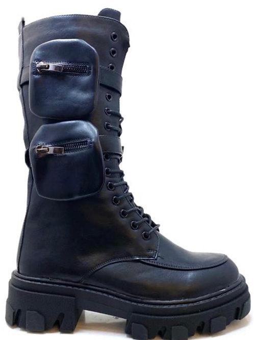 Monolith Biker Boots mit abnehmbaren Pochettes-Preis incl. MwSt. Zzgl. Versand