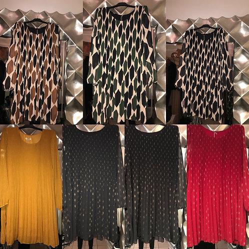 Süßes Plissee Kleid diverse Styles - Preis incl. MwSt. zzgl. Versand
