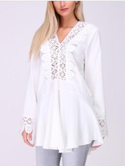 Tunika / Kleid mit Spitze ausgestellt  - Preis incl. MwSt. zzgl. Versand