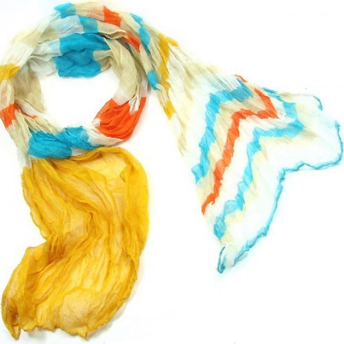 Langschal coloured stripes gelb - Preis incl. MwSt. zzgl. Versand
