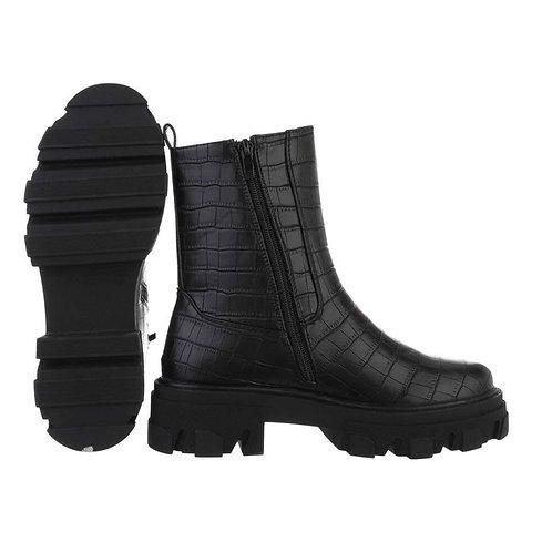 Chunky Kunstleder Chelsea Boots mit Kroko Print -Preis incl.Mwst.zzgl.Versand